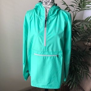 Hooded Pullover Rain Jacket